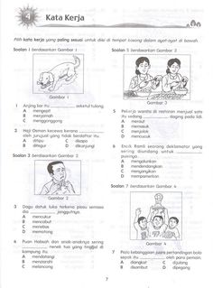kata kerja Malay Language, Indonesian Language, Classroom Images, Home Schooling, Primary School, Preschool Activities, Grammar, Education, Students