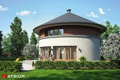 Circulus. Oryginalny dom piętrowy, okrągły, w przestrzeni użytkowej nieszablonowe wnętrza, bez podpiwniczenia i garażu - Studio Atrium Concrete Staircase, Gnu Linux, Free Opening, Project Free, Round House, Open Source, Ecology, Venus, Gazebo