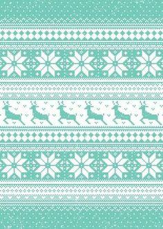 Deer/snowflake pattern