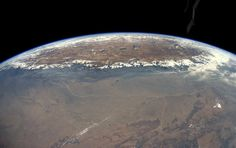 The sheer height of the Himalayan plateau - the roof of the world - is captured in a spectacular shot taken by one of the keenest photographers on the International Space Station
