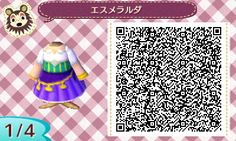 The Hunchback of Notre Dame -Esmeralda / Animal Crossing QR Code blog