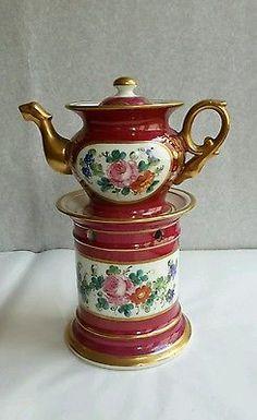 Superbe Tisanière en porcelaine de Paris Style Napoléon III