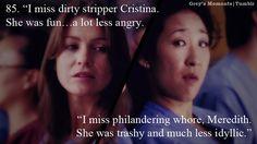 dirty stripper Cristina & philandering whore Meredith