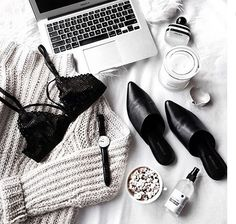 Popcorn and lingerie. @jacquiealexander showing off her Bang Bang basic bra amongst other weekday essentials.