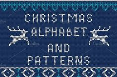 Knitted Alphabet and Patterns by Katyr on @creativemarket