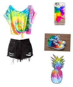 """""""Tie 👔 dye"""" by fashion123-3 ❤ liked on Polyvore featuring Casetify"""