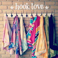 Monogrammed robe hooks