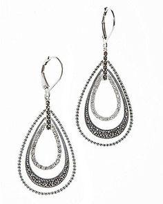 Judith Jack Orbit Teardrop Earrings