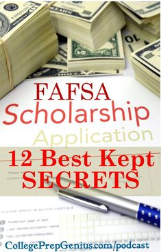FAFSA 12 Best kept secrets homeschooling transcripts college prep Financial Aid For College, College Planning, Education College, Money For College, College Fund, College Admission, College Savings, College Ready, How To Pay For College Without Loans