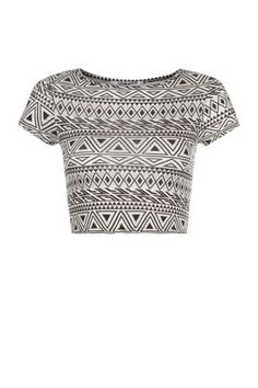 Free delivery available today - Shop the latest trends with New Look's range of women's, men's and teen fashion. Teen Fashion, Aztec, New Look, Latest Trends, Crop Tops, Triangle, Clothes, Shopping, Silver