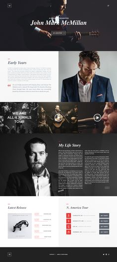 A fantastic guy and band.  Real-pixels #website #inspiration #design