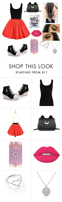 """skater"" by saywecanfly5347 ❤ liked on Polyvore featuring Twenty, Usagi, Lime Crime, Jordan Askill and Anne Sisteron"