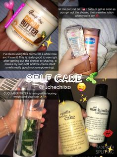 Skin Care Routine Steps, Skin Routine, Beauty Care, Beauty Skin, Beauty Stuff, Beauty Tips, Vaseline Lotion, Baby Oil Gel, Glow Up Tips