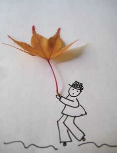 uses for fall leaves...