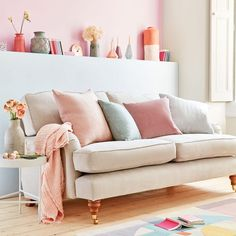 Refresh your living room with spring colour