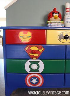 diy superhero dresser