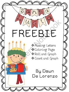 Santa Lucia Morning Work FREEBIE! from Toadally Tots on TeachersNotebook.com (9 pages)  - Ideal for morning work on Santa Lucia Day!