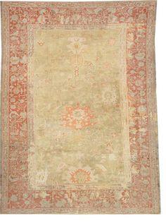 Oushak carpet size approximately 10ft. x 13ft. 5in.