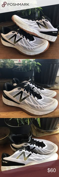 New Balance fresh foam trainer running shoe New Balance fresh foam running shoes. Awesome geometric shape to the foam insoles. Gently barely worn. Clean color way. Condition: 9+/10 Color: white/black/gum Size: 8.5 I ship out fast! New Balance Shoes Athletic Shoes