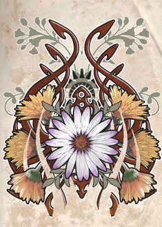 I always loved art nouveau (or jugendstil). My favorite artist is Alfons Mucha, his work is really magnificent. art nouveau is back Art Nouveau Illustration, Art Nouveau Poster, Art Nouveau Design, 7 Arts, Jugendstil Design, Art Deco, Art Prints For Home, Back Art, Popular Art