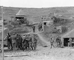A dressing station on the Salonika Front in 1917.