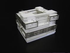 maquette de bureaux à Chevalret Avenue de France maquette: www.alpha-volumes.com architecte: www.mimram.com