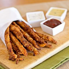 Crispy Chicken Stix with 3 Dipping Sauces - 15 Finger-Licking Good Fried Chicken Recipes