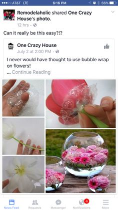 Tutorials - Bubble raft to float flowers Diy Fleur, Flower Decorations, Table Decorations, Floating Flowers, Floating Flower Centerpieces, Diy Décoration, Wedding Table Centerpieces, Flower Crafts, Holidays And Events