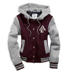 Maroon/Grey Varsity Jacket