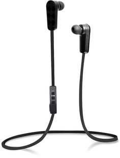 Jarv NMotion Built-In Microphone Sport Wireless Black Bluetooth Stereo Earbuds/Headphones