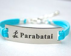 Parabatai , Stainless Steel Charm Bracelet, Parabatai Shadowhunter inspired Adjustable Faux Suede Leather Bracelet, Gift For Her,ST755