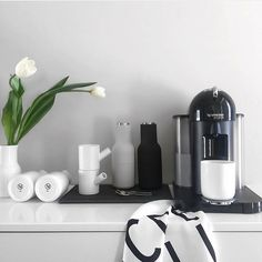 "Resident GP Homewares & Gifts on Instagram: ""We always hang out to see what Willow from @basicblackandwhite will post next! Her home is the epitome of minimal scandi chic! We LOVE this photo of her new Nespresso machine - ok we're craving coffee really bad this morning!  We love your work Willow! """
