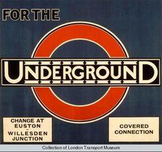 Old London Underground London Transport Museum, Public Transport, Transport Posters, Vintage London, Old London, London Art, London Underground Stations, Gill Sans, Logo Design Love