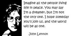 World Peace is possible :) if we imagine it & desire it more often:). Thoughts…