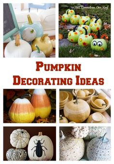 Not sure what to do with a pumpkin? Try one of these ideas! Pumpkin decorating ideas
