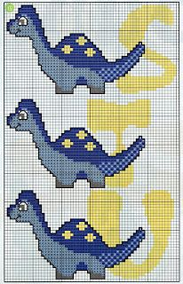 CHARMS IN CROSS POINT: Monogram Dinosaur