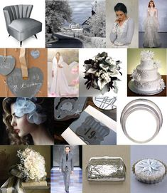 Board #27 | Icy Cool - icy gray and white winter wedding