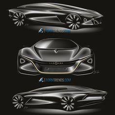 Car Design Sketch, Car Sketch, Aston Martin, Color Pencil Sketch, Car Illustration, Futuristic Cars, Transportation Design, Future Car, Automotive Design