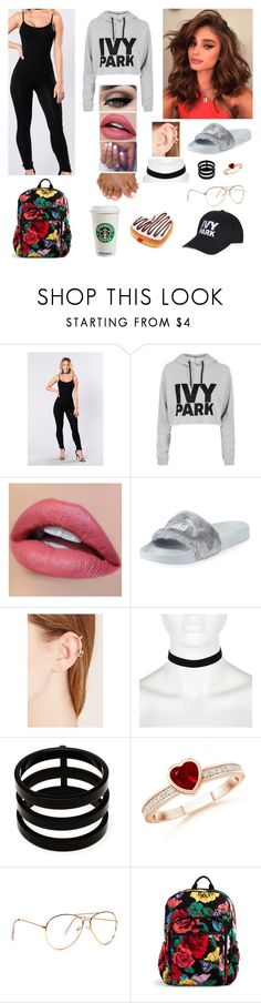 """""""School Outfit"""" by divinemaboundou ❤ liked on Polyvore featuring JFK, Topshop, Tiger Mist, Puma, Forever 21, River Island, Repossi, Vera Bradley and Ivy Park"""