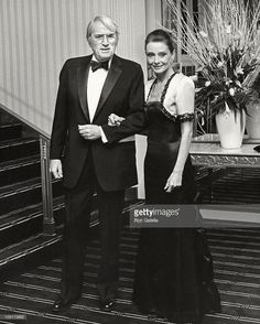 The actor Gregory Peck photographed with his beloved friend Audrey Hepburn (actress and UNICEF Special Ambassador) by Ron Galella at the Waldorf Astoria in New York City, New York (USA), during an...