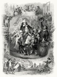 Le roi d'Yvetot (The king of Yvetot).    Nicolas-Toussaint Charlet & Hippolyte (?) Pauquet, from Œuvres complètes de P. J. de Béranger (The complete works of Béranger) vol. 1, Paris, 1856.