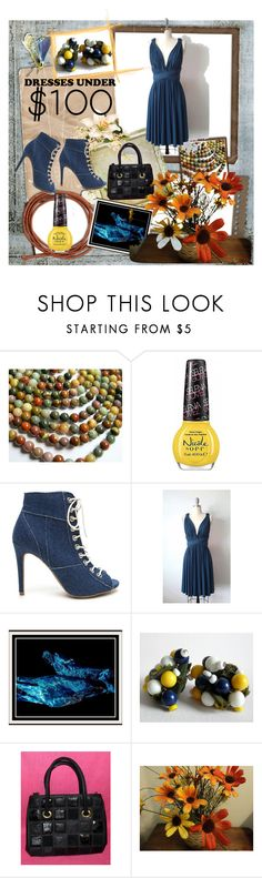 """Under 100 dress"" by woeste ❤ liked on Polyvore featuring OPI, Frasco and under100"