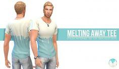 Simsational designs: Melting Away Tee • Sims 4 Downloads