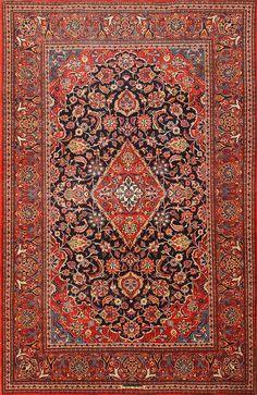 Classical Antique Persian Kashan Rug 50413