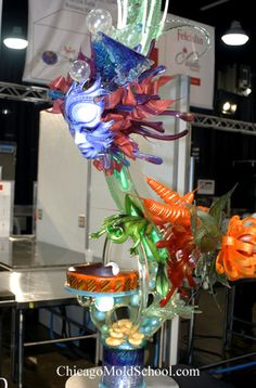 Team USA's sugar showpiece from the 2008 World Pastry Team Championships - The Chicago School of Mold Making. by Beatricess