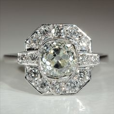 ANNUAL AUTUMN SALE!     This fabulous vintage engagement ring was made in England during the early 1930s.$14529