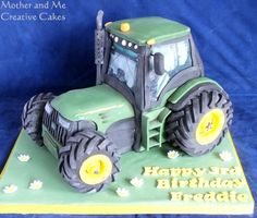Tractor Cake - Cake by Mother and Me Creative Cakes 30th Birthday Cakes For Men, Tractor Birthday Cakes, Tractor Cakes, Beetroot Chocolate Cake, John Deere Party, Farm Cake, Cake Decorating Techniques, Novelty Cakes, Heart For Kids