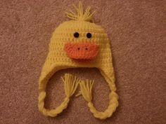 Crochet+Duck+Hat+by+MadebyMagissa+on+Etsy,+$24.00