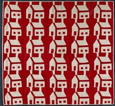 """""""infinite variety: three centuries of red and white quilts 