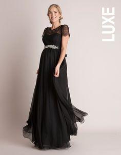 Black evening dress maternity